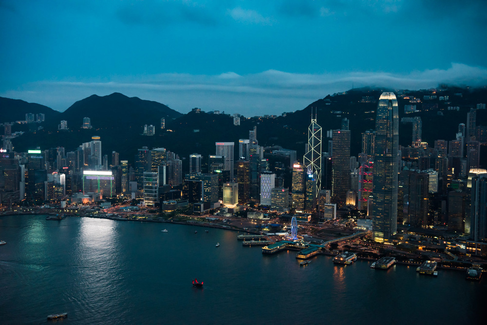 Hong Kong Island from ICC
