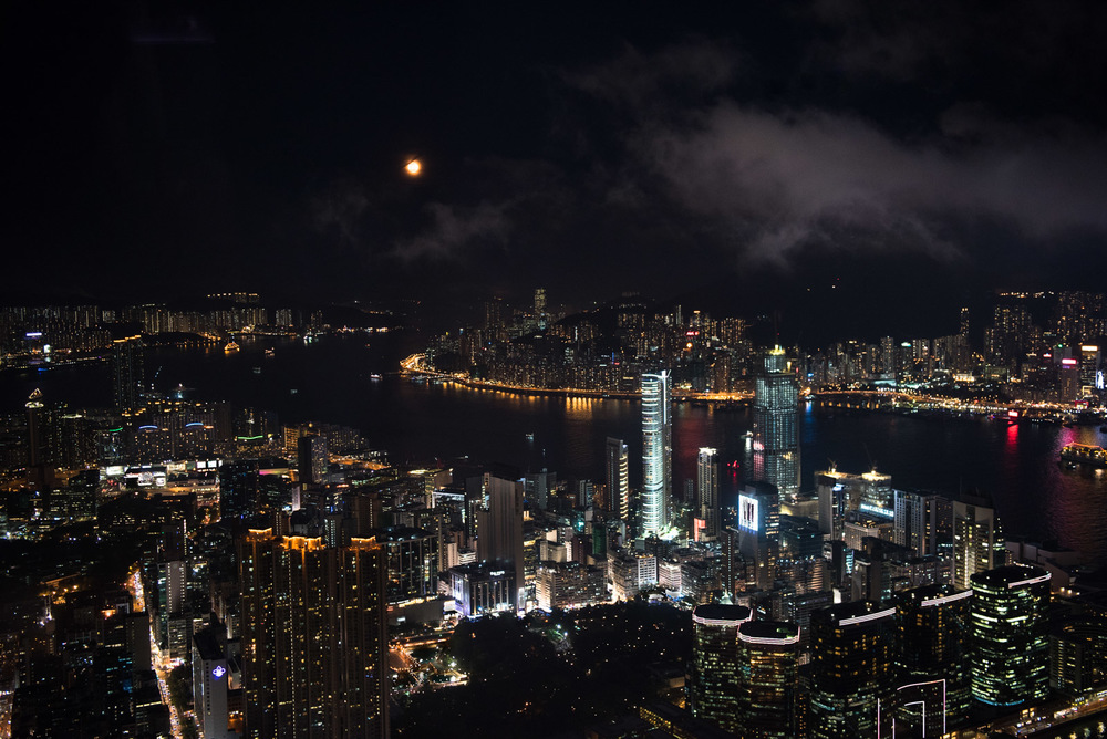 Kowloon and Causeway Bay from ICC