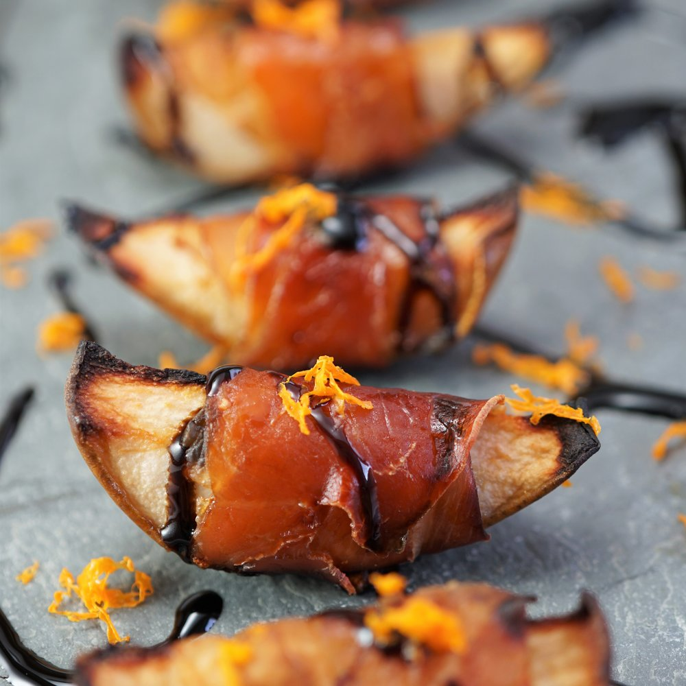 Roasted Pear with Prosciutto