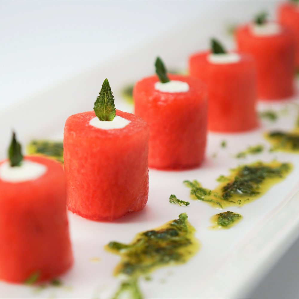 Watermelon with Feta & Mint