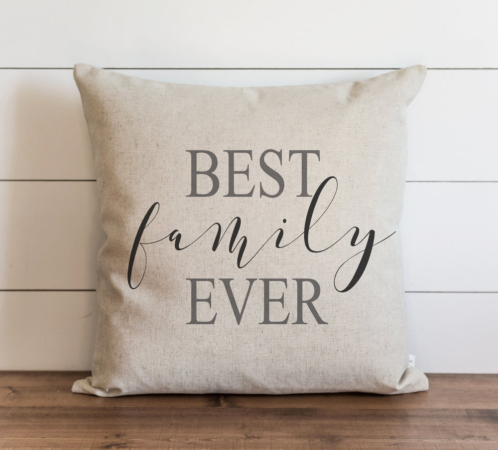 best family ever cursive 20 x 20 pillow cover only everyday humor throw pillow gift accent pillow