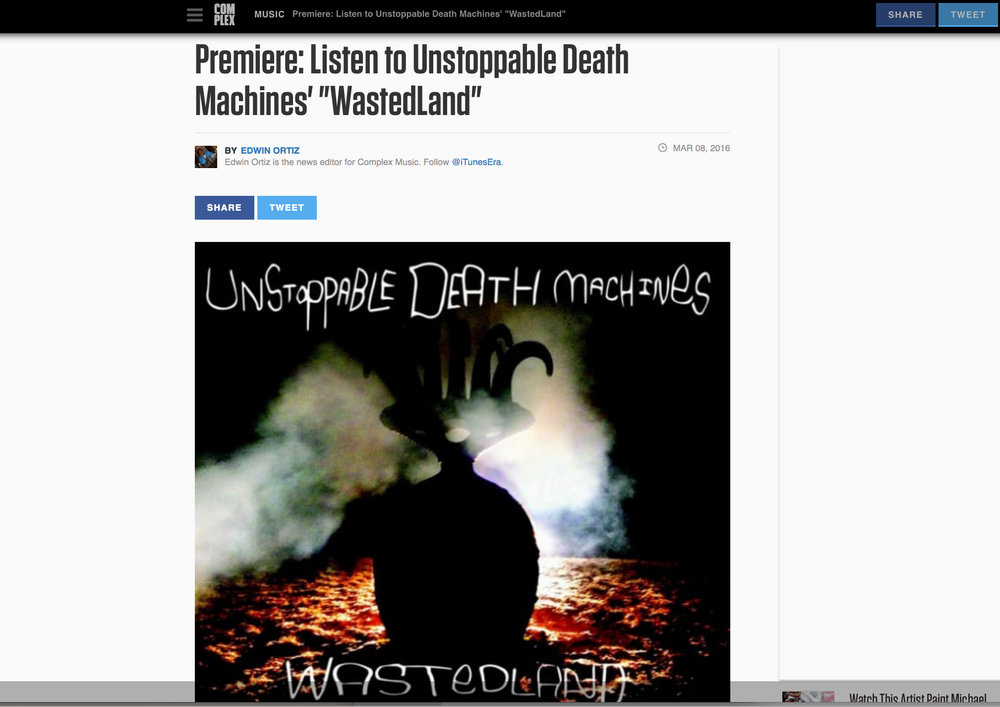 unstoppable death machines complex music