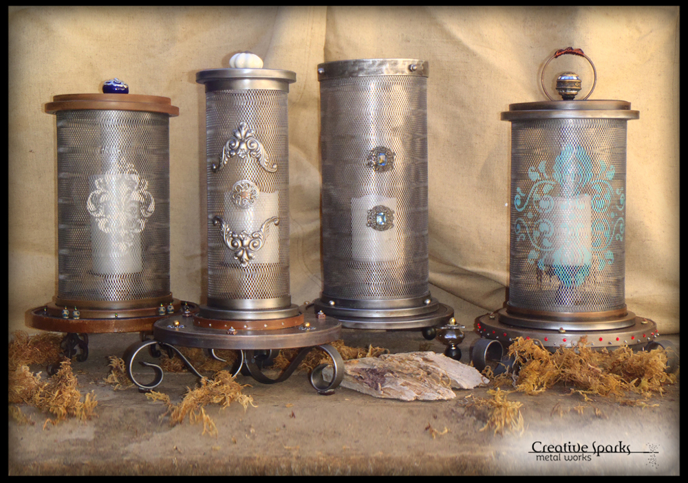 Hurricane Lanterns by Creative Sparks Metal Works