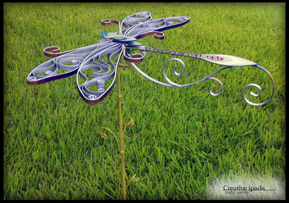 Garden Dragonfly by Creative Sparks Metal Works