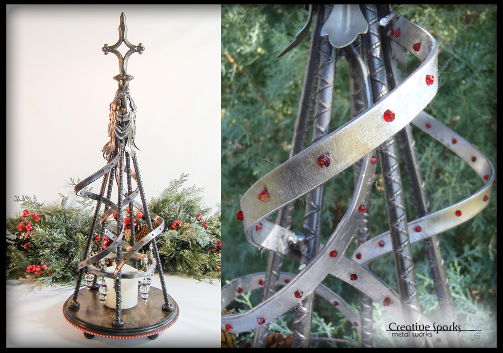 Tabletop Christmas Trees by Creative Sparks Metal Works