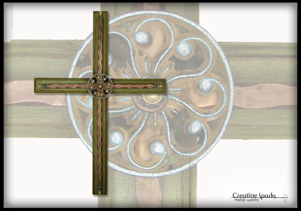 Wall Cross by Creative Sparks Metal Works