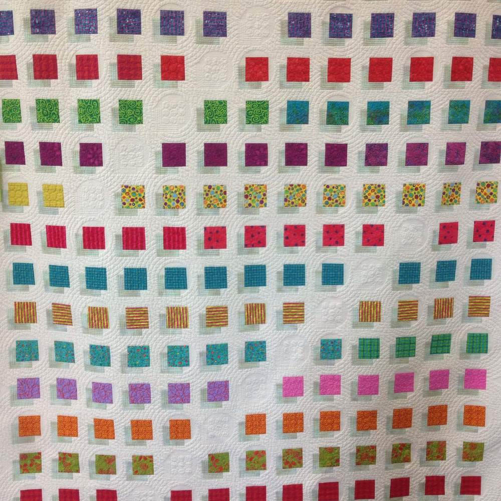 """Peleton,"" Pieced and Quilted by Valli Schiller"