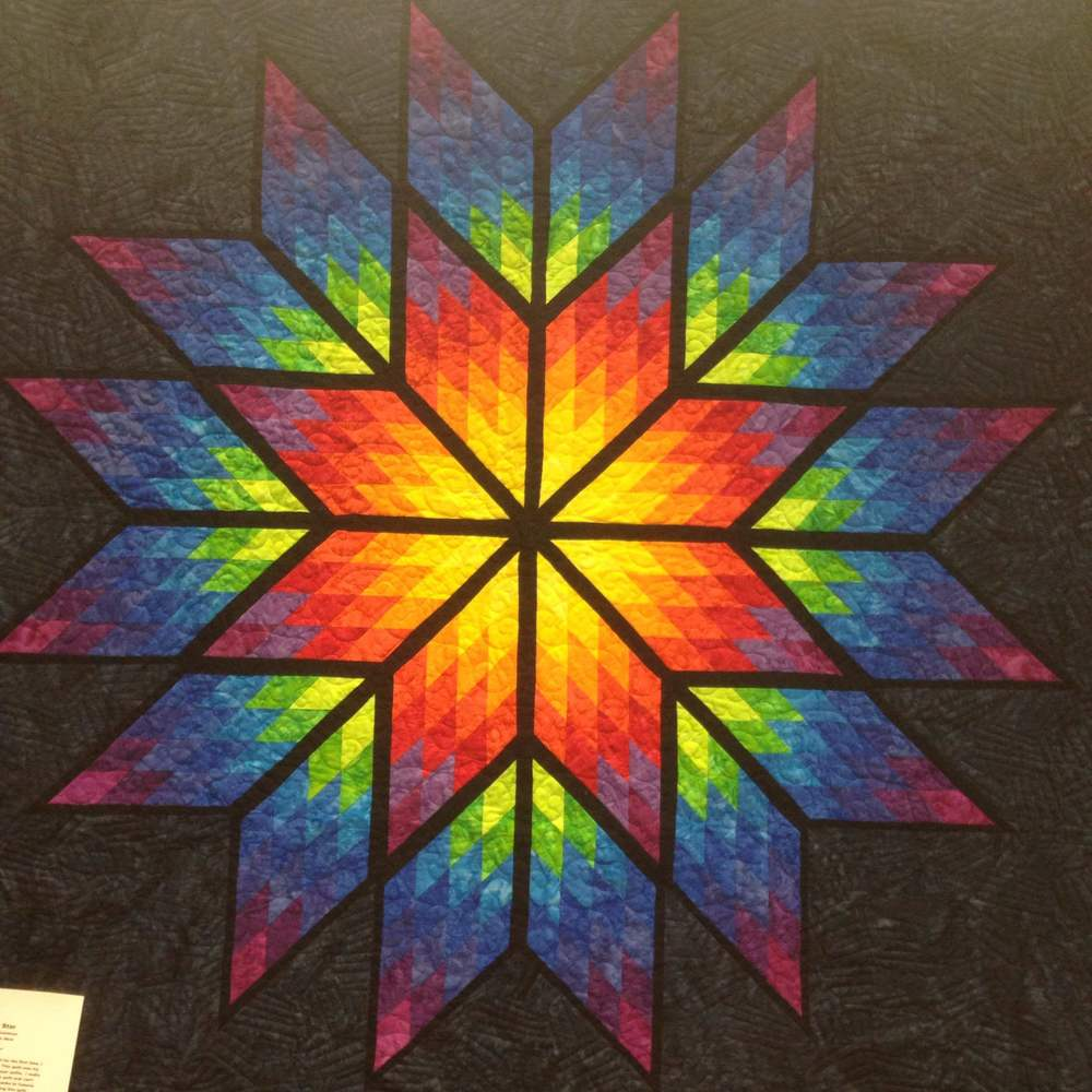 """Prismatic Star,"" Pieced by Julie Arentson and Quilted by Susan Akre"