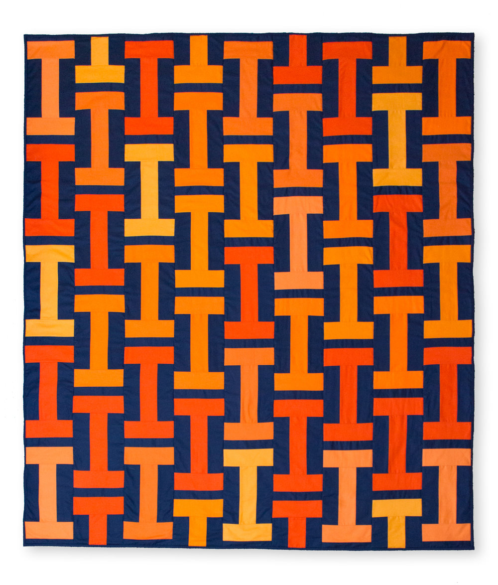 UNIVERSITY OF ILLINOIS QUILT Pattern by GE Designs