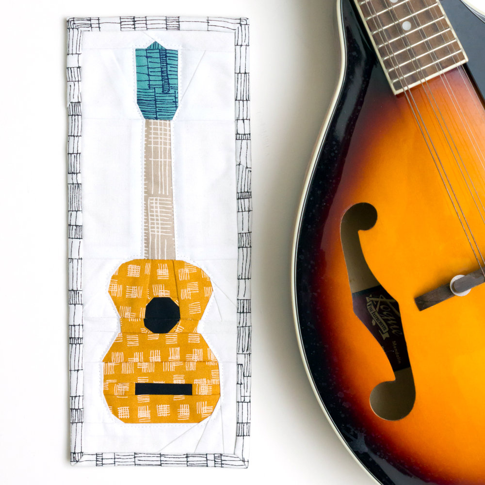 UKELELE MINI QUILT Pattern by Sometimes Crafter