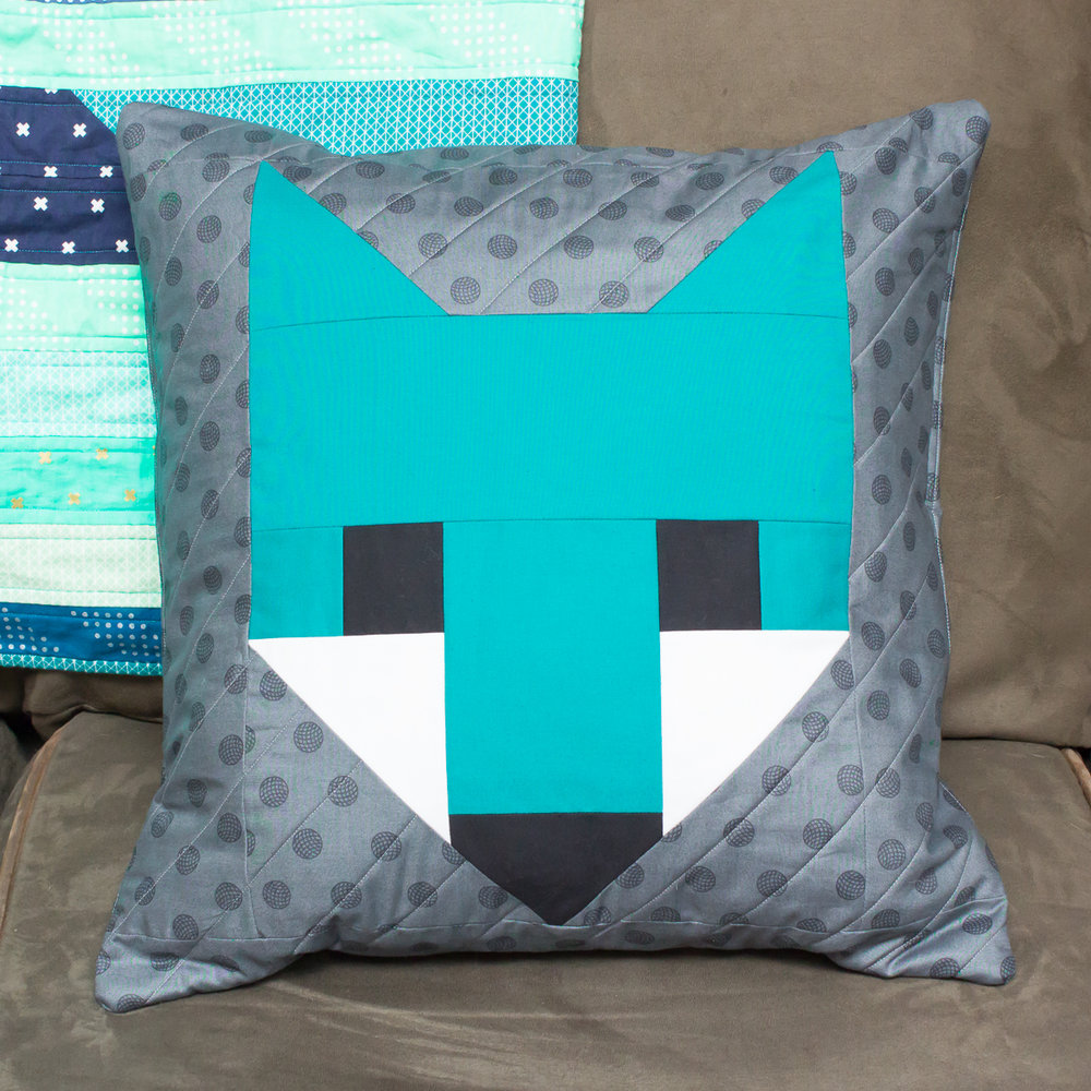 FANCY FOX PILLOW Pattern by Elizabeth Hartman