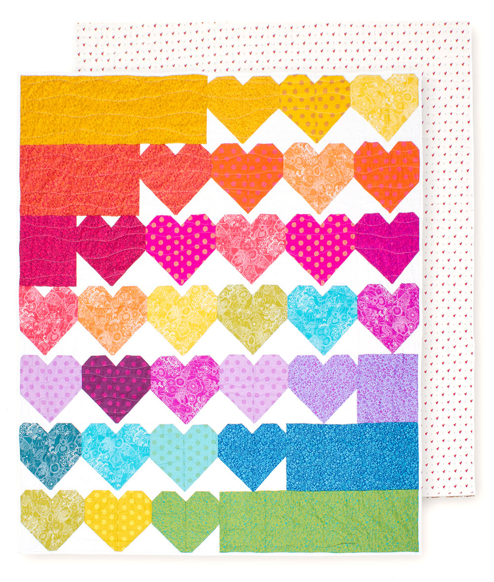 QUILTS FOR PULSE Heart Block Pattern by Cluck Cluck Sew Charity Project with the Chicago Modern Quilt Guild