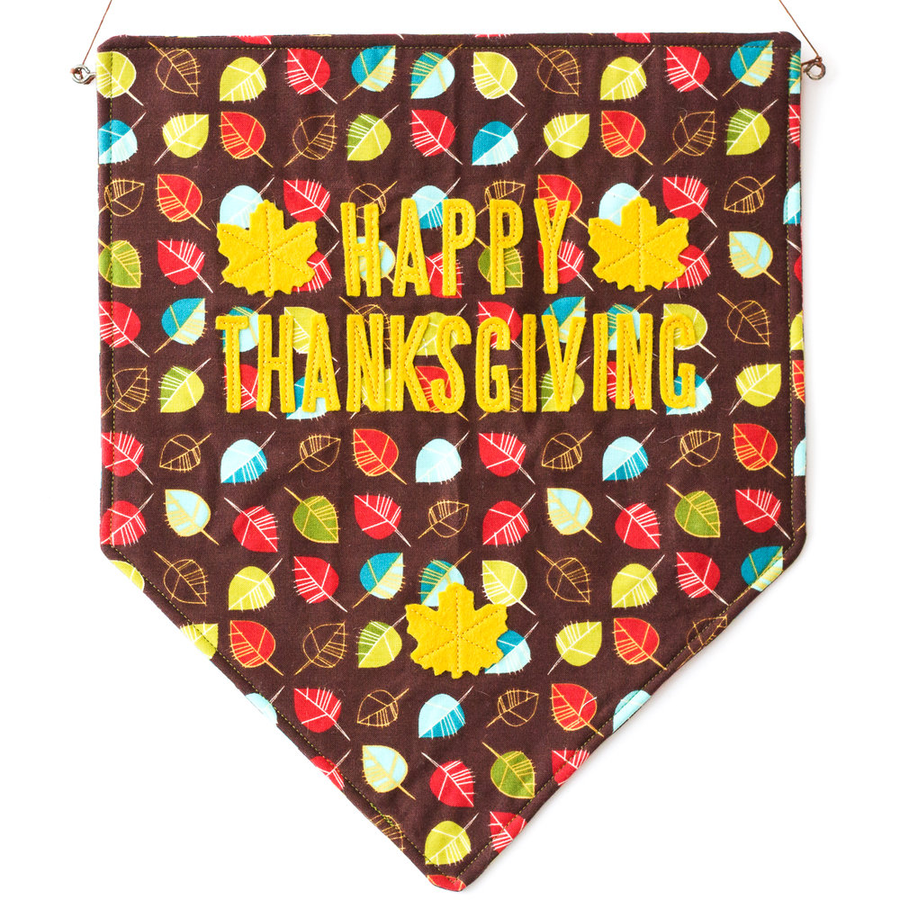THANKSGIVING BANNER Pattern by Laura McDowell Hopper
