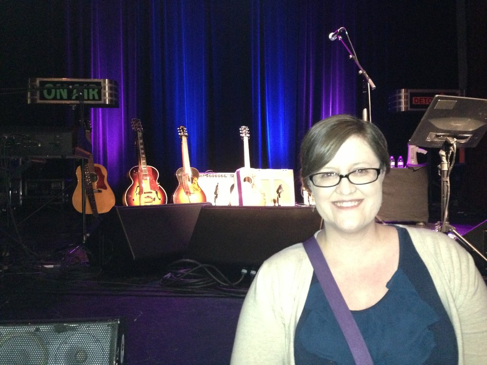 This horrible picture? I love it. Because it's me at a solo Elvis Costello show!
