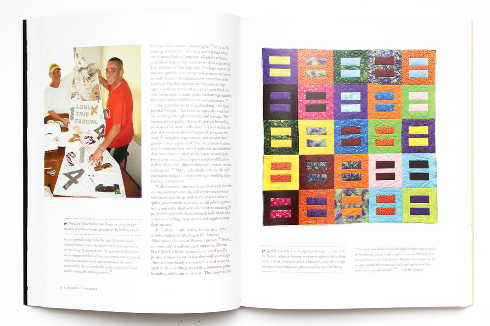 "From the book ""Quilts and Human Rights."" Quilt for Equality, on the right, will be in the Pick Museum's exhibit."
