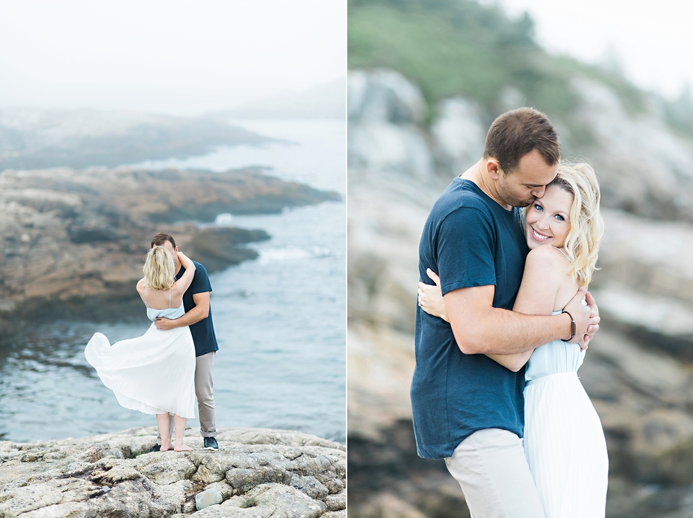 Candace Berry Photography |  Nova Scotia Cliff Side Couples Shoot