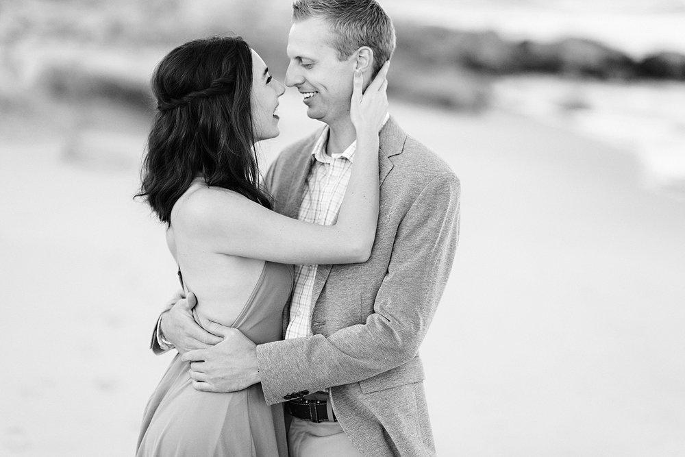Romantic Seaside Beach Engagement Shoot in Lulu's long flowy maxy dress_026.jpg