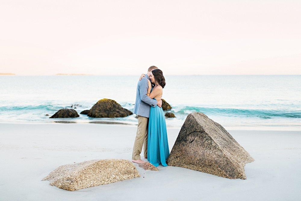 Romantic Seaside Beach Engagement Shoot in Lulu's long flowy maxy dress_031.jpg