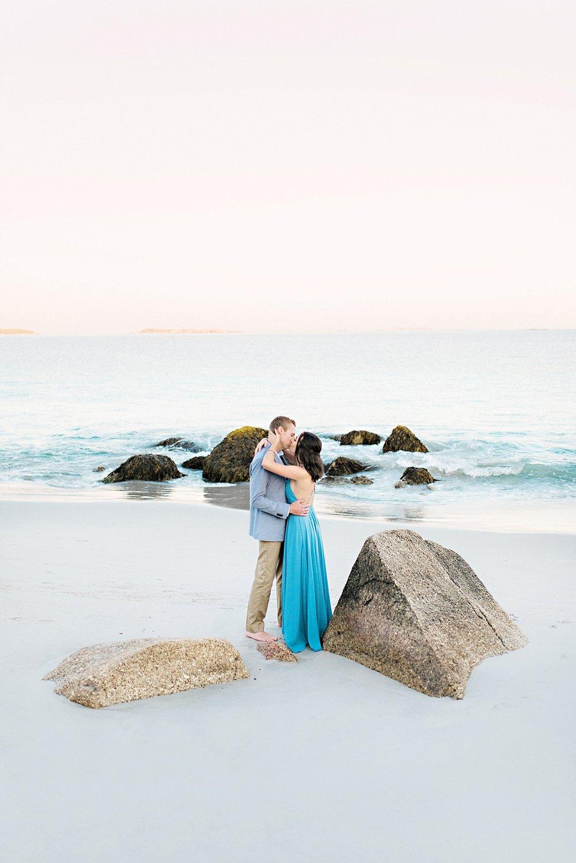 Romantic Seaside Beach Engagement Shoot in Lulu's long flowy maxy dress_035.jpg