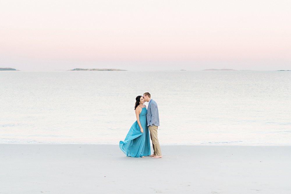Romantic Seaside Beach Engagement Shoot in Lulu's long flowy maxy dress_037.jpg
