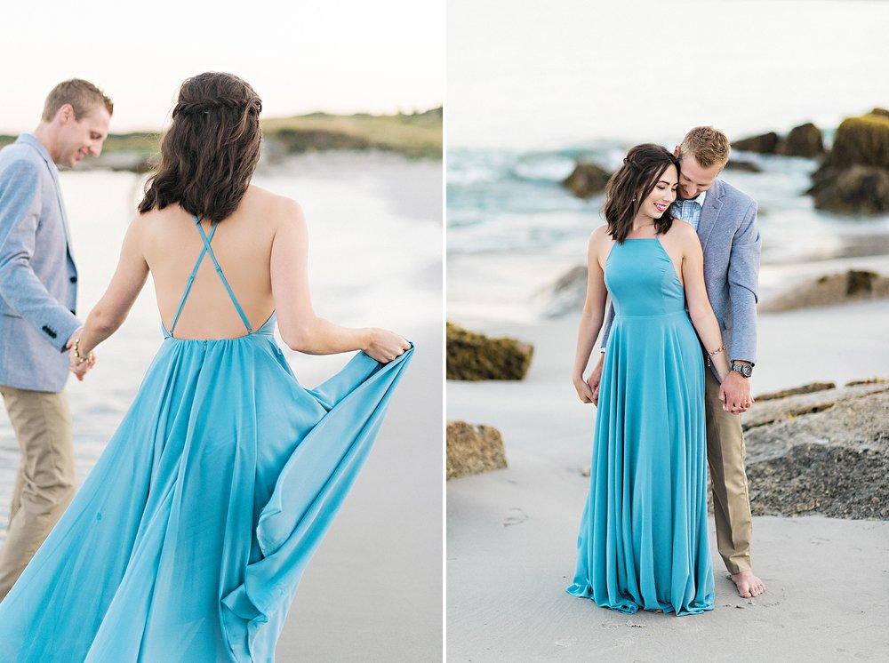 Romantic Seaside Beach Engagement Shoot in Lulu's long flowy maxy dress_038.jpg