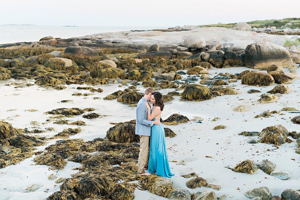 Romantic Seaside Beach Engagement Shoot in Lulu's long flowy maxy dress_039.jpg