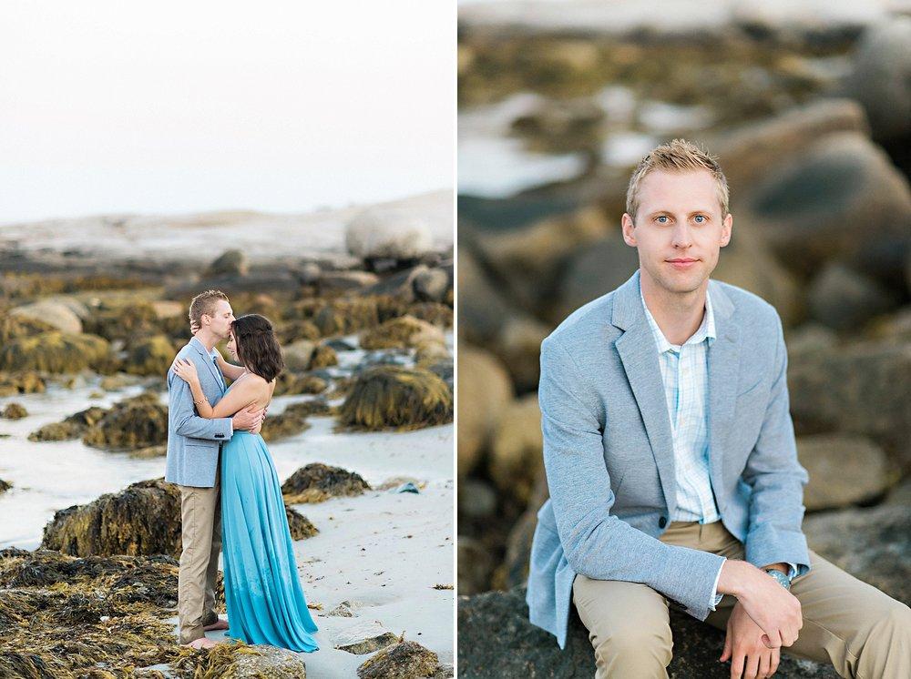 Romantic Seaside Beach Engagement Shoot in Lulu's long flowy maxy dress_040.jpg