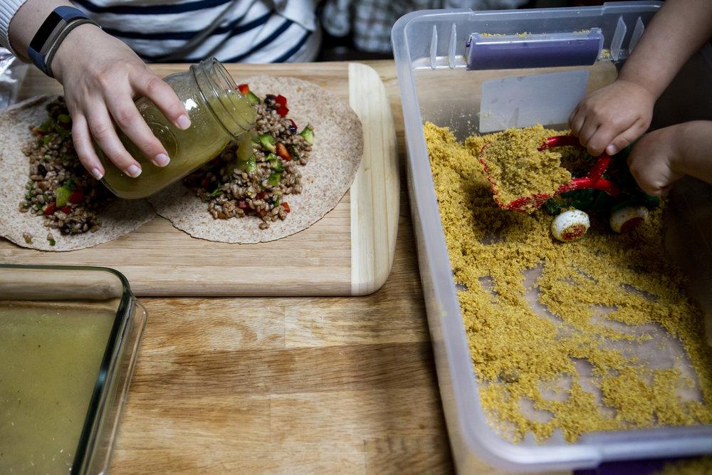 Making health, kid-friendly enchiladas for kids.