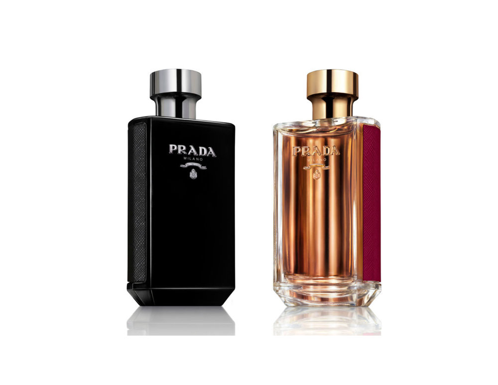 Prada La Femme Intense Eau de Parfum, $180.00 for 100mL and  Prada L'Homme Eau De Parfum, $130 for 100mL.  Both available at Hudson's Bay.