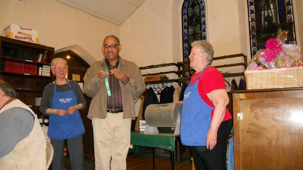 Raffle - Shirley & Beverly w/Fr. Ennis