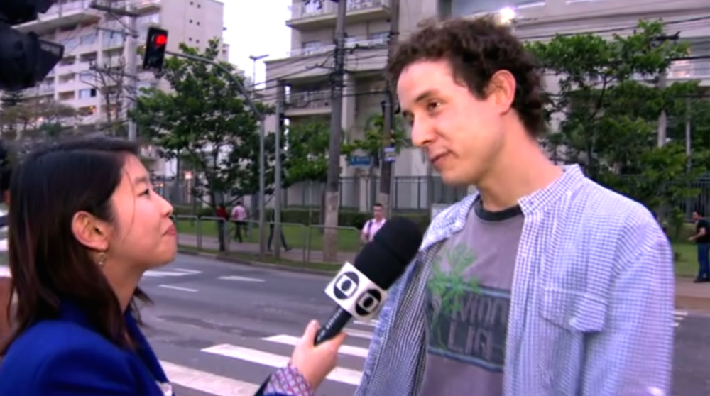 O criador do abaixo-assinado deu entrevista para a TV Globo. (imagem: Globo.com)