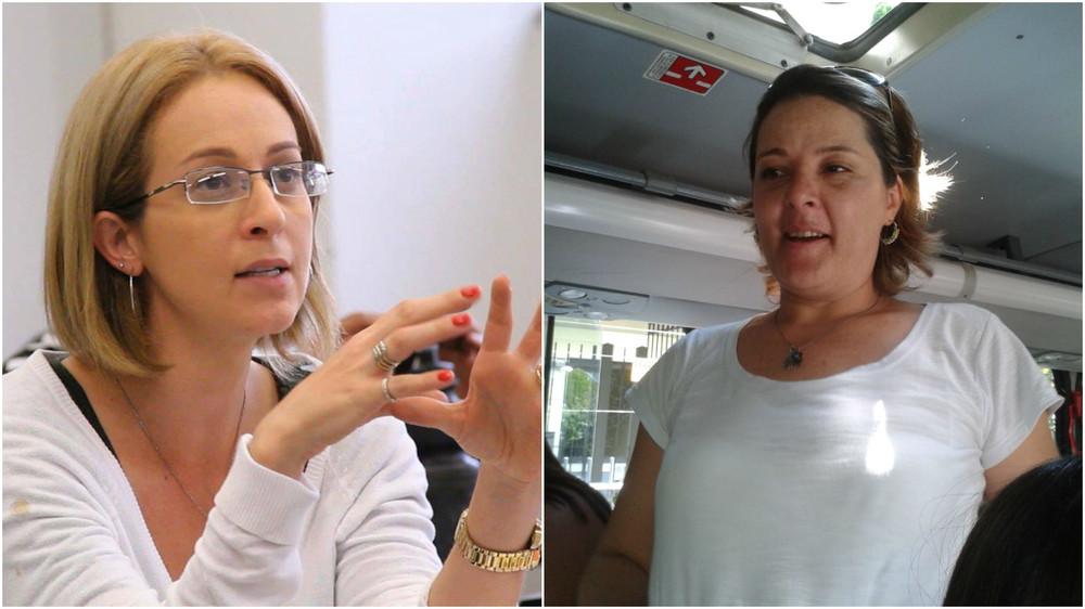 à esquerda,carla Moraes; Àdireita, patrícia FERREIRA. elas somaram forças para mobilizar moradores da zona sul (IMAGENS: arquivo pessoal)