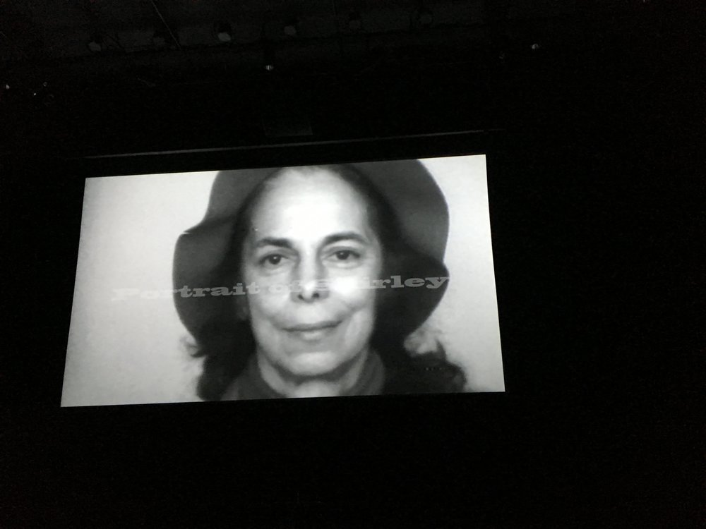 """Photo from filmmaker Immy Humes' documentary-in-progress on seminal filmmaker, Shirley Clarke, """"Portrait of Shirley,"""" shown at 2016 """"Shorts in the Slope"""" at the Berkeley Carroll theater. -Photo by Jeanette Lee"""