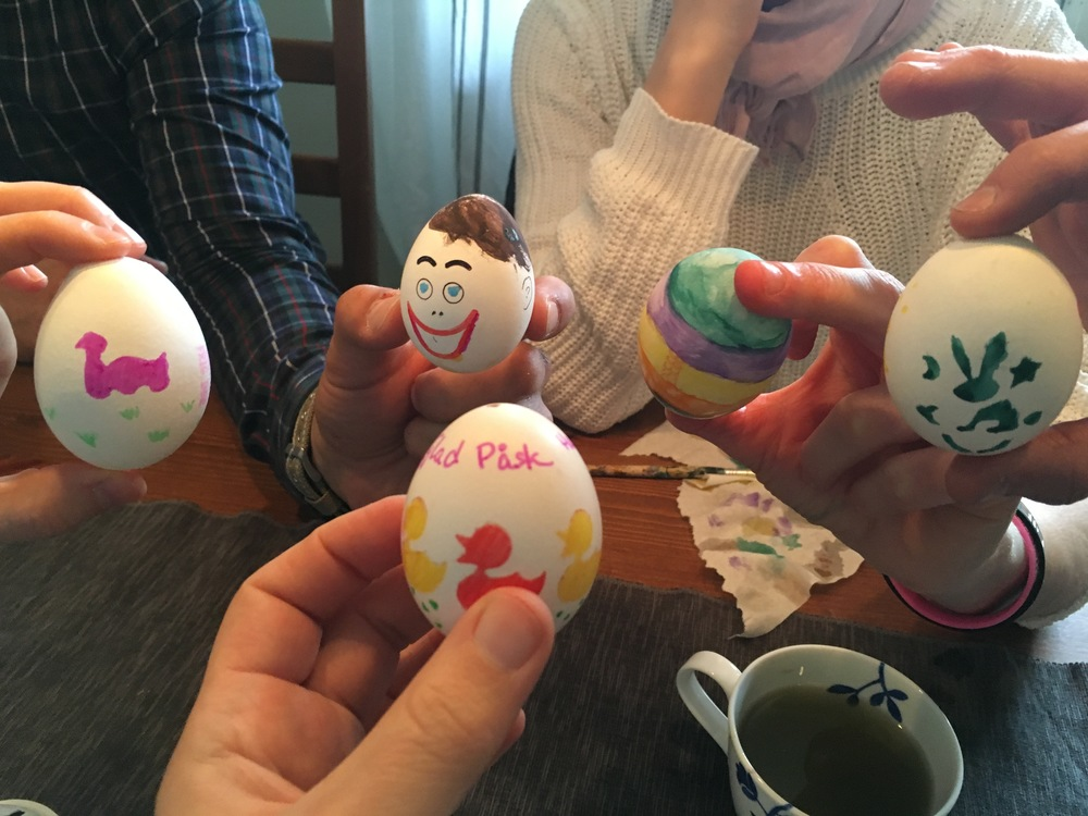 Egg painting break at Hoffice