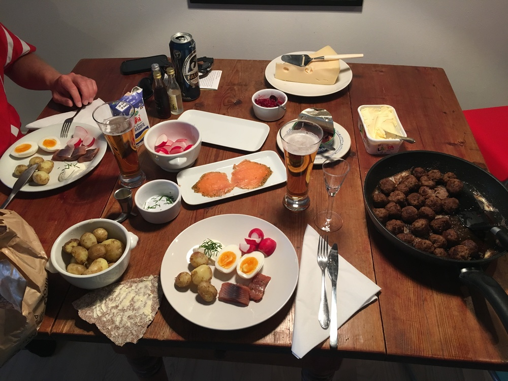A small Swedish smorgasbord.