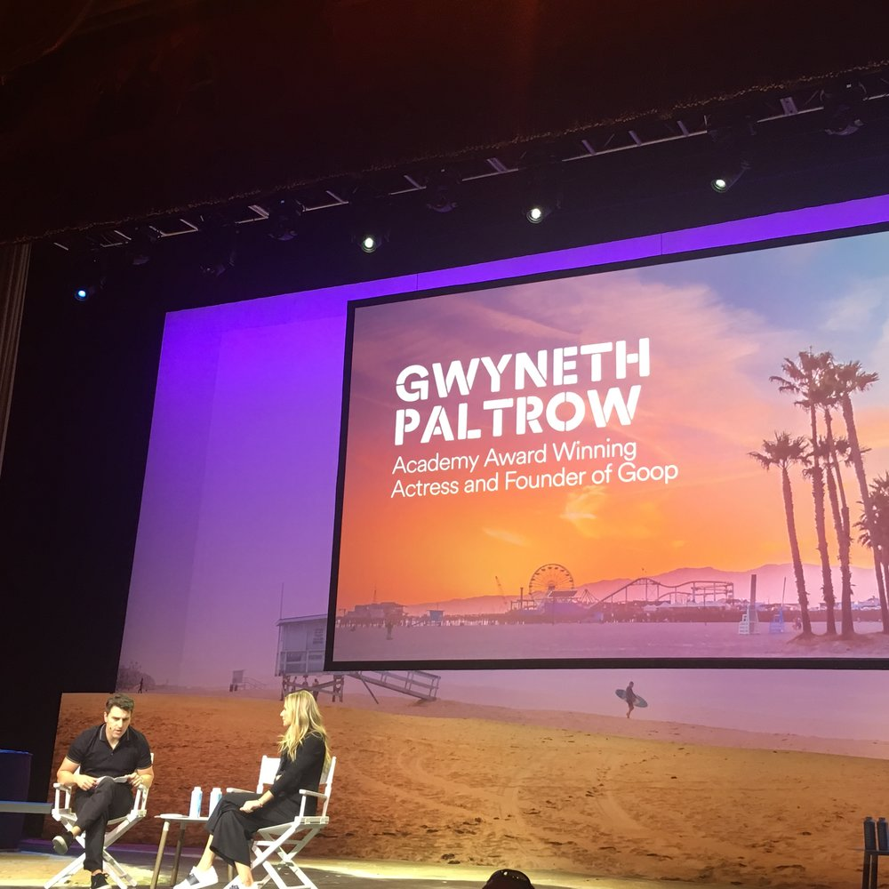 Brian Chesky and Gwyneth Paltrow talking about entrepreneurship.