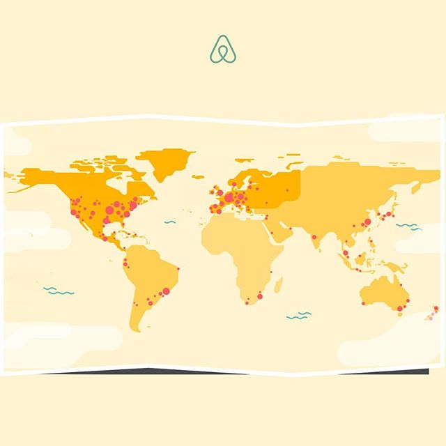 Airbnb is celebrating #superhostweek I've had 373 guests (!) from 38 countries (marked in the map) in my home, since I started as a host in 2015. What an amazing experience!!! #airbnb #superhost