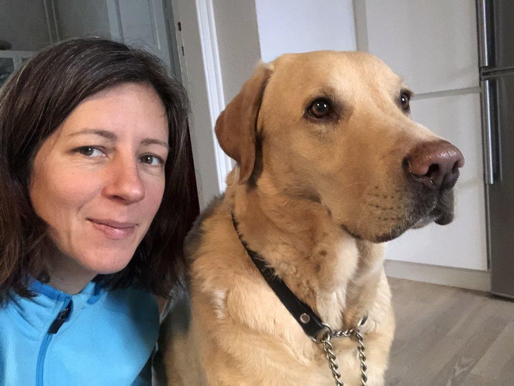 Jag och min senaste DogBuddy, Sune.
