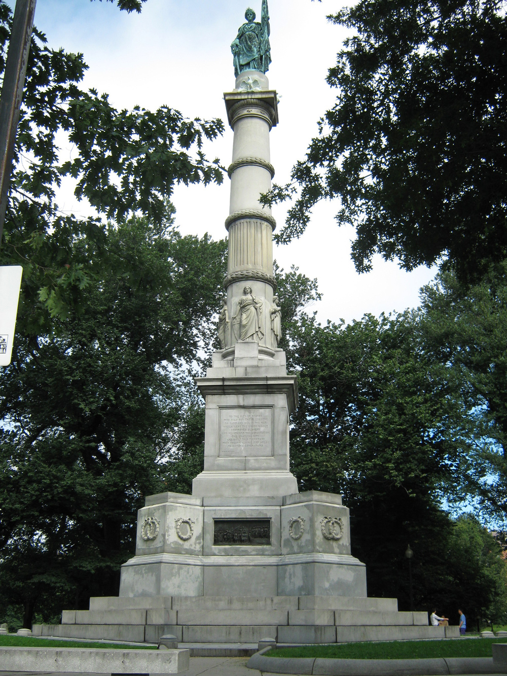 Sailors and Soldiers monument in the Boston Common