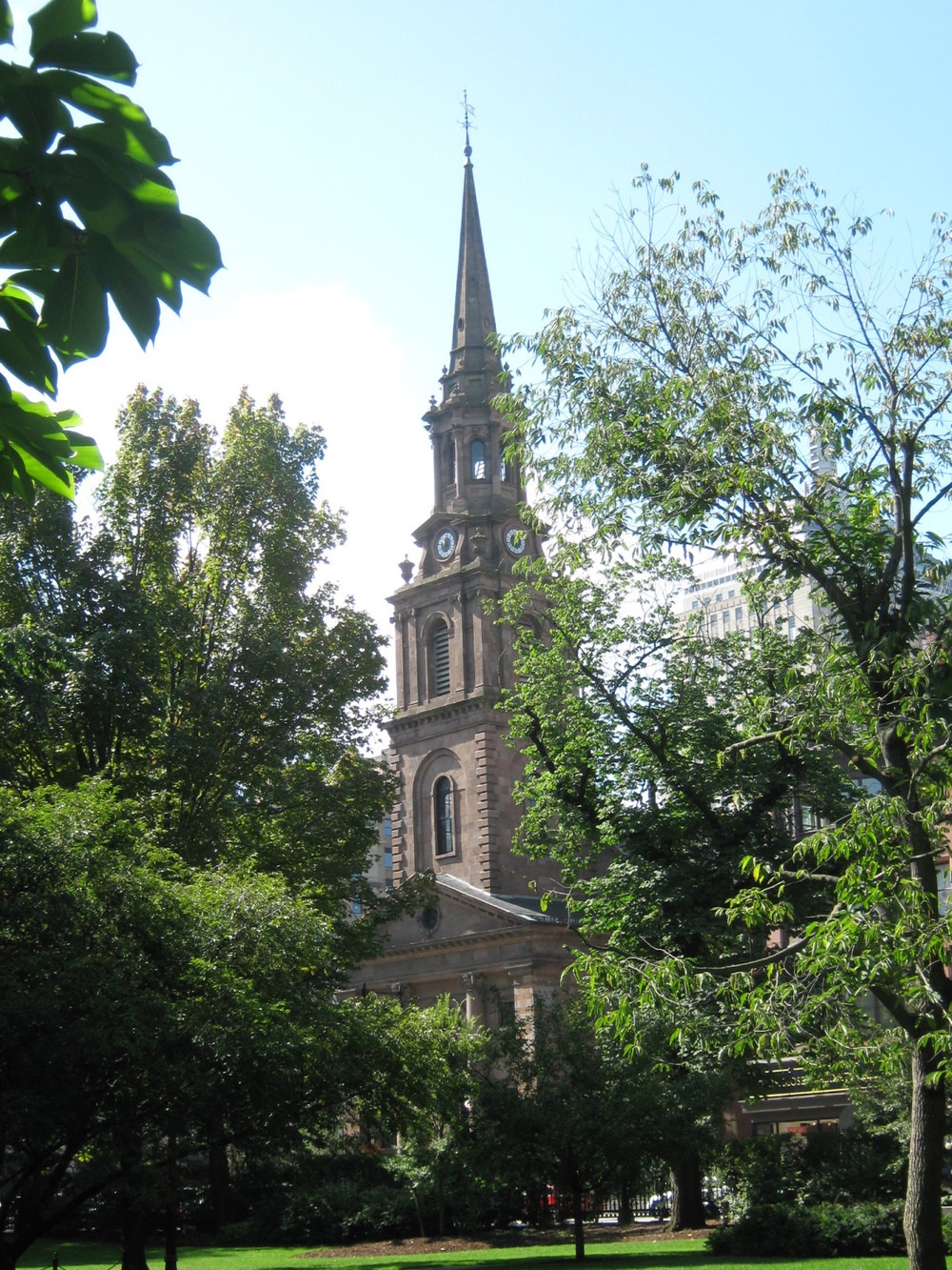 Arlington Street Church near the Public Gardens