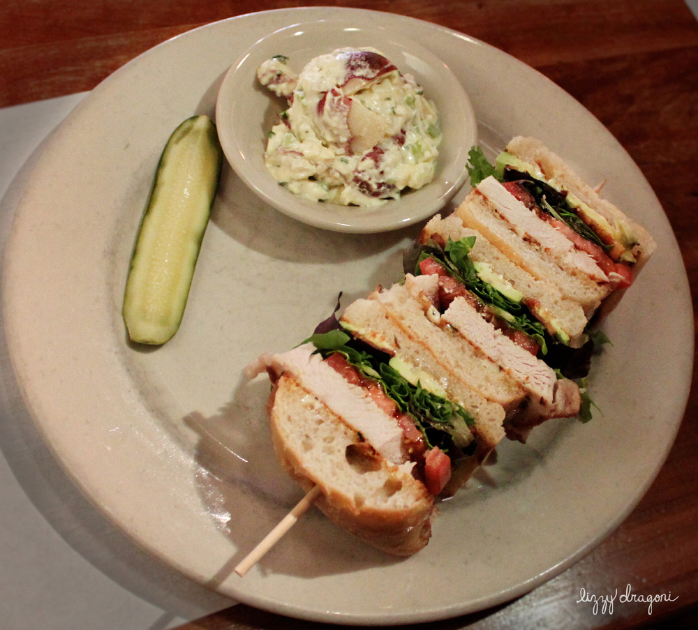 Turkey Club with Potato Salad