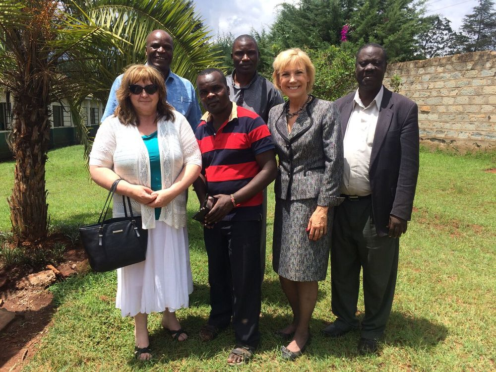 Sheryl connects the Gospel Outreach Evangelical Ministries staff and board members with a visit to the ATS Kitale campus. (Upper left corner is the new ATS principal, Rev. Dr. Patrick Marunga.)