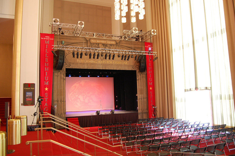 KENNEDY CENTER MILLENNIUM STAGE  https://c1.staticflickr.com/7/6066/6057057703_19fc92e625_b.jpg