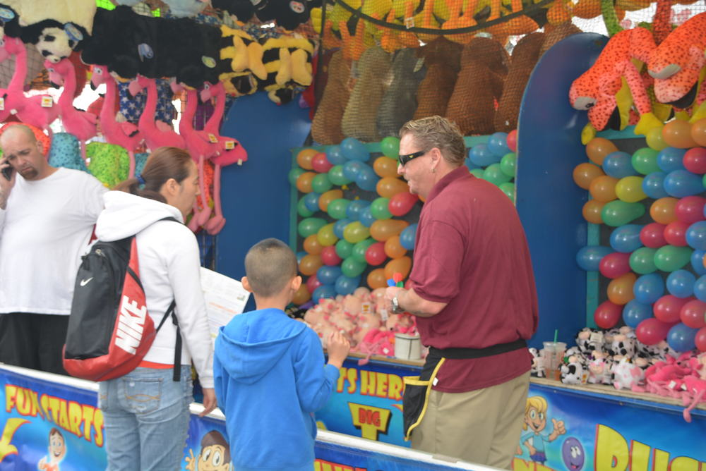One of the many carnival games featured in the festival.