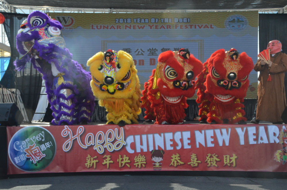 Dragon and Lion Dances at the Lunar New Year Festival.