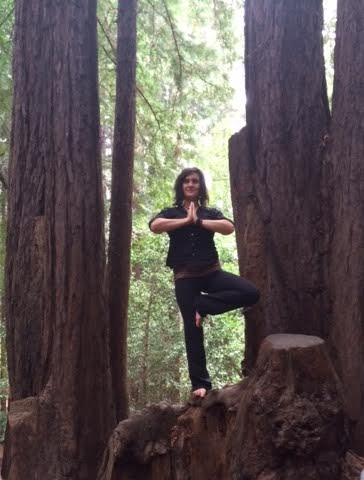 The adorable Cody Strauss taking tree pose with the trees