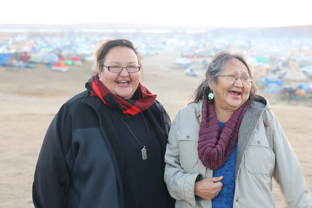 Amber Hockeborne. Tate and Leta November 11, 2016. Standing Rock