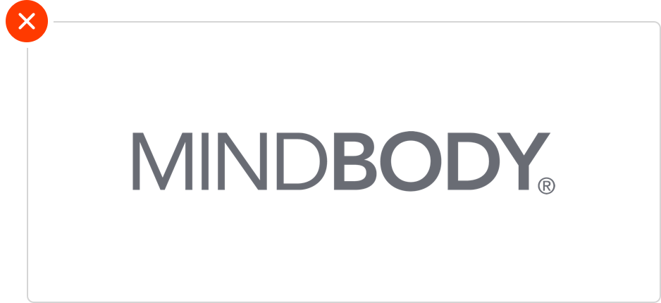 DO NOT  use the wordmark MINDBODY without the enso