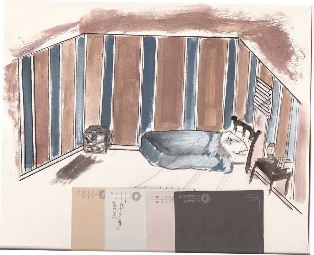 Production Design Concept Art created by Stacey Kaniuk for  Karim  (2007).