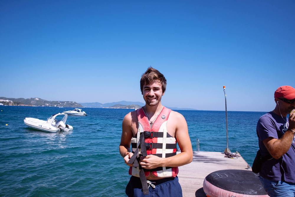 This is me ... Before I got dragged side ways in the water pretending  I could wakeboard... Got there in the end though :P